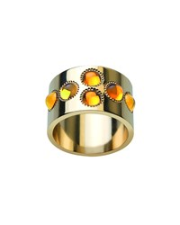 Petillante 18K Gold Amber Wide Ring Lalique