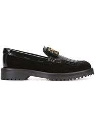 Car Shoe Embellished Kilties Loafers Black