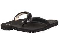 Ugg Borrego Black Suede Leather Men's Sandals
