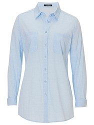 Betty Barclay Long Cotton Shirt Frosted Blue