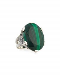 Stephen Dweck Oval Malachite Statement Ring Green