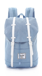 Herschel Retreat Backpack Chambray Crosshatch White
