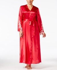 Flora Nikrooz By Plus Size Satin Stella Robe Crimson