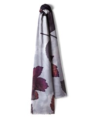 Jaeger Winter Leaf Print Scarf