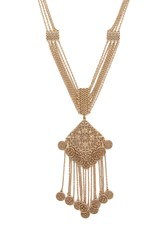 Forever 21 Filigree Medallion Necklace