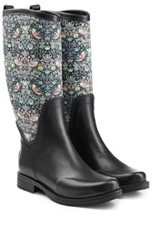 Ugg Australia Rubber Reignfall Boots With Printed Shaft Multicolor