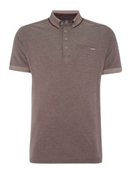 Duck And Cover Foley Short Sleeve Pique Polo Dark Red