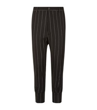 Vivienne Westwood Pinstripe Strap Cuff Trousers Male Navy