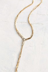 Urban Outfitters In The Loop Lariat Necklace Gold