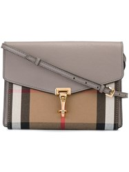 Burberry Runway Plaid Cross Body Bag Nude And Neutrals
