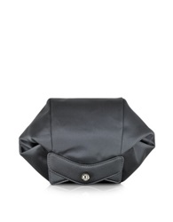 Carven Satin Clutch W Zipper And Magnetic Fastening Anthracite