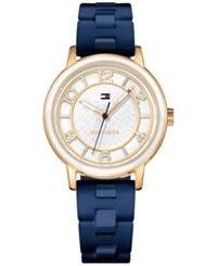 Tommy Hilfiger Women's Everyday Sport Blue Silicone Strap Watch 36Mm 1781669