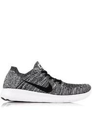 Nike Free Run Flyknit Running Shoes White Black