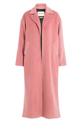 Sandy Liang Coat With Virgin Wool And Angora Pink
