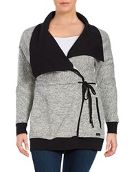 Marc New York Heathered Wrap Cardigan Black Heather