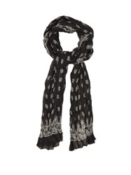 Saint Laurent Bandana Print Cashmere And Silk Blend Scarf Black Multi