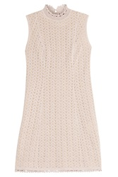 Missoni Knit Lace Mini Dress Rose