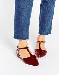 Warehouse T Bar Flat Shoes Oxbloodpatent
