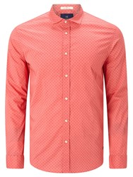 Scotch And Soda Long Sleeve Classic Shirt Coral Print
