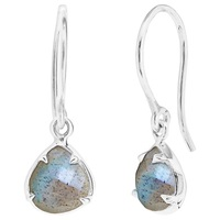 Dinny Hall Sheba Sterling Silver Labradorite Earrings Silver