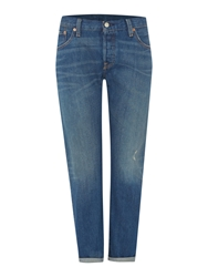 Levi's 5O1 Boyfriend Custom And Tapered Fit In Cali Cool Mid Blue