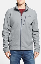 The North Face Men's 'Texture Cap Rock' Fleece Jacket High Rise Grey