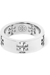 Tory Burch Silver Tone Ring Metallic