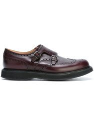 Church's 'Nettleton' Monk Shoes Pink And Purple