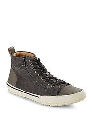 John Varvatos High Top Lace Up Sneakers Oxide