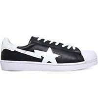 A Bathing Ape Skull Sta Leather Trainers Black