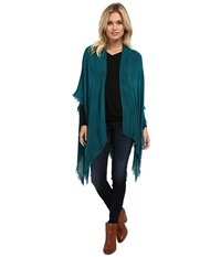 Echo Feather Weight Ruana Vibrant Teal Women's Sweater Green