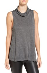 Cupcakes And Cashmere Women's 'Dustin' Sleeveless Cowl Neck Top Medium Heather