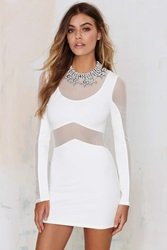 Nasty Gal Tiger Mist Talk That Talk Mesh Dress