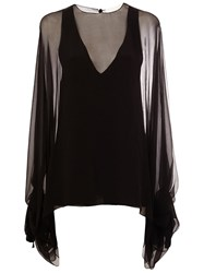Chloe Sheer Blouse Black