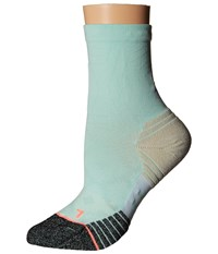 Stance Race Day Mint Women's Crew Cut Socks Shoes Green
