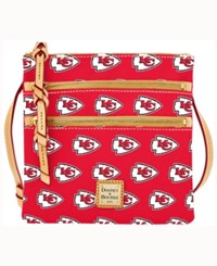 Dooney And Bourke Kansas City Chiefs Triple Zip Crossbody Bag Red