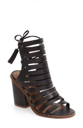 Steve Madden Women's 'Pipa' Cut Out Sandal Black Leather