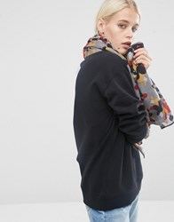 Asos Oversized Lightweight Scarf In Blown Up Camo Print Multi