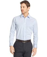 Van Heusen Big And Tall Long Sleeve Light Blue Traveler Dress Shirt
