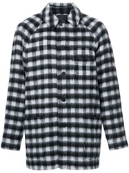 Alexander Wang Checked Patchwork Coat Black