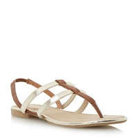 Head Over Heels Limmy Double Strap Toe Post Flat Sandals Tan