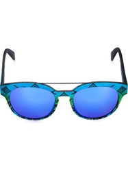 Italia Independent Multi Print Sunglasses Blue