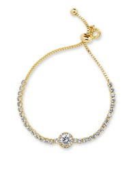 Anne Klein Cubic Zirconia And Crystal Slider Necklace Gold