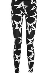 Perfect Moment Starlight Printed Stretch Jersey Leggings Black