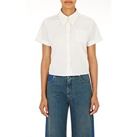 Maison Martin Margiela Tie Back Crop Blouse Off White