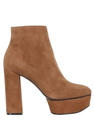 Casadei 120Mm Suede Ankle Boots