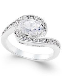 Charter Club Silver Tone Twisted Crystal Solitaire Ring Only At Macy's