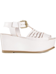 Buttero Platform Buckled Sandals