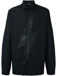 Neil Barrett Leather Thunder Shirt Black