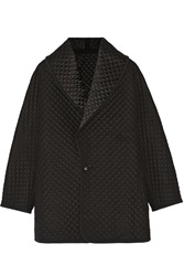 Temperley London Diega Reversible Quilted Silk Wool And Cashmere Blend Coat Black